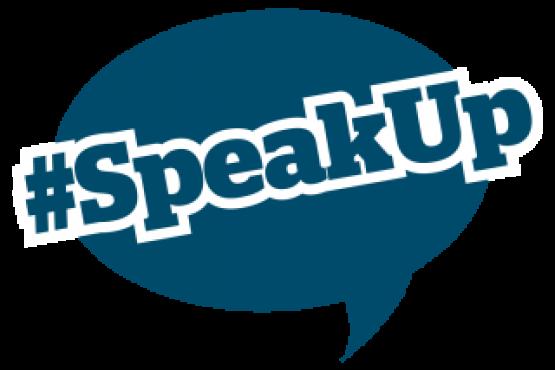 hashtag Speak Up graphic