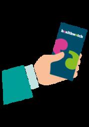 Hand holding leaflet